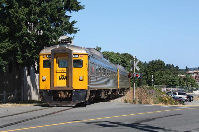 VIA Rail #6148, Victoria-Courtney RDC train, Nanaimo BC. July 26 2010.