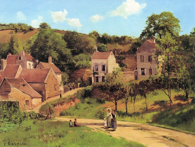 Camille Pissarro The Hermitage At Pontoise At Guggenheim