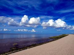 Uitzicht over de Waddenzee bij Koehoal
