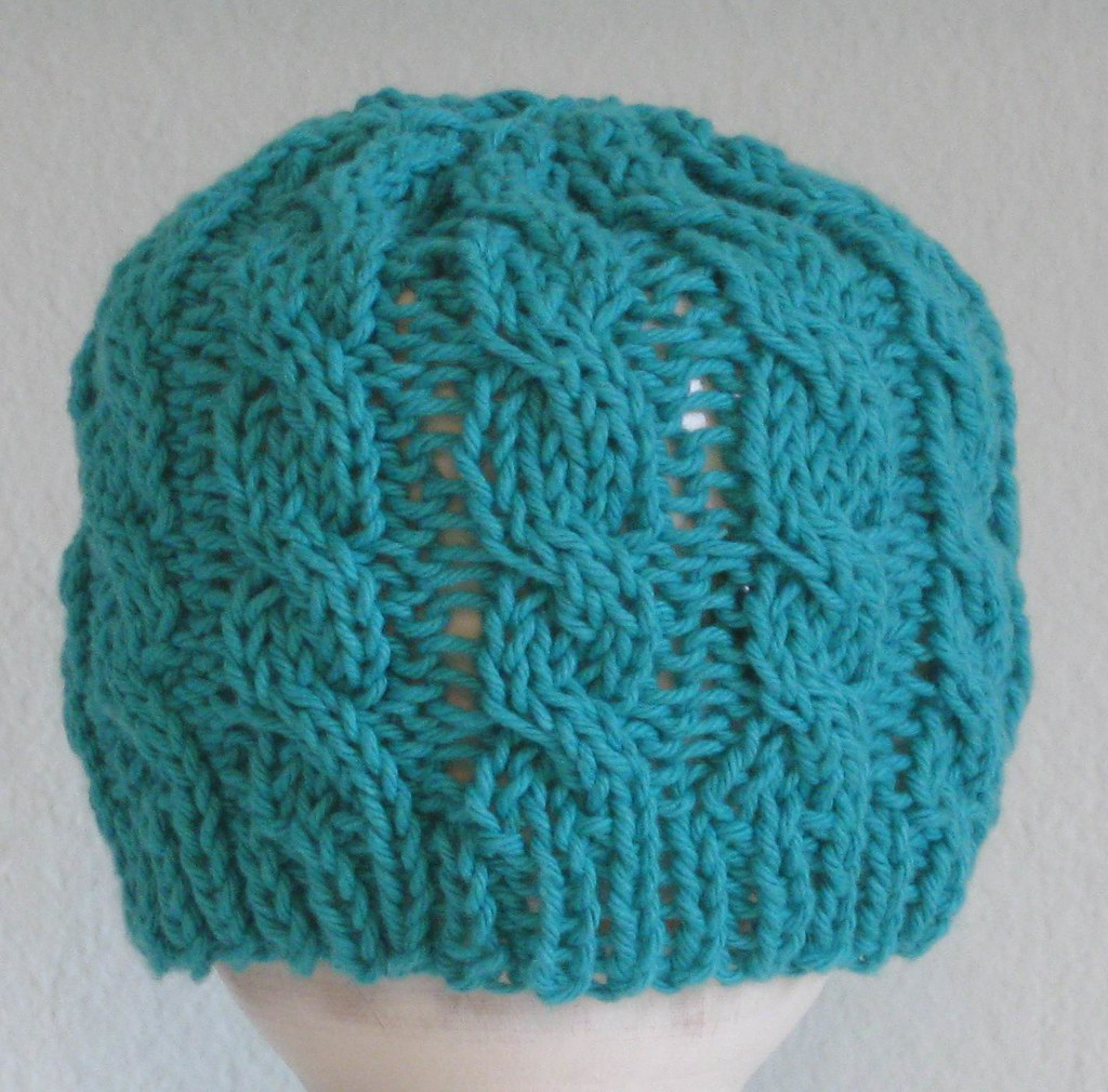 BABY HAT- Cabled- JADE GREEN