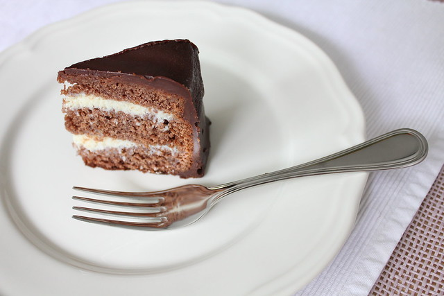 Chocolate cake with coconut filling | Cake I made for desser ...