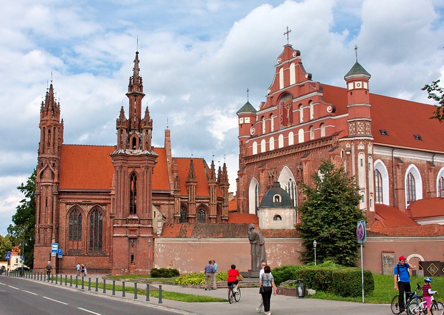 St Ann's and Bernardines churches in Vilnius
