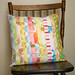 pretty vintage sheeting pillow