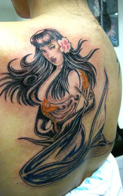 Tatuagem Sereia Olivia Mermaid Tattoo