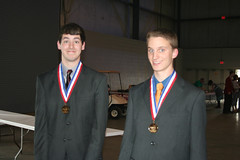 Ethan and Rick, winning 1st place in Web Design at SkillsUSA state competition