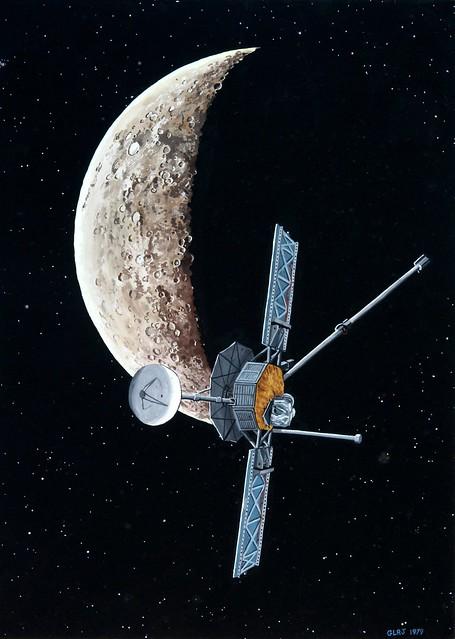 Mariner 10 at Mercury | Mariner 10 encounters Mercury ...