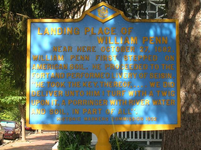 Photo of William Penn blue plaque