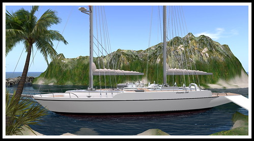 My second sail boat at Encore Isle Sim in Second Life