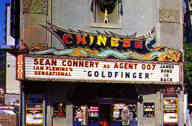 Grauman's Chinese Theatre Detail From Postcard