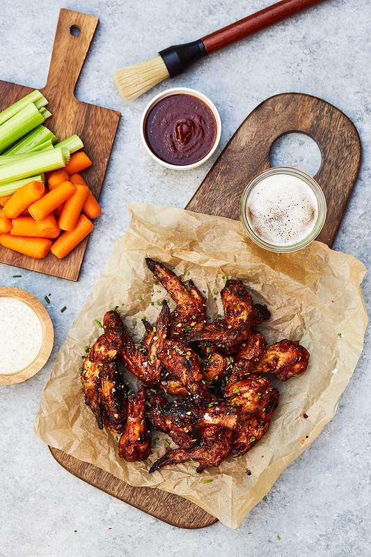 Crispy Grilled Chicken Wings – Three Ways