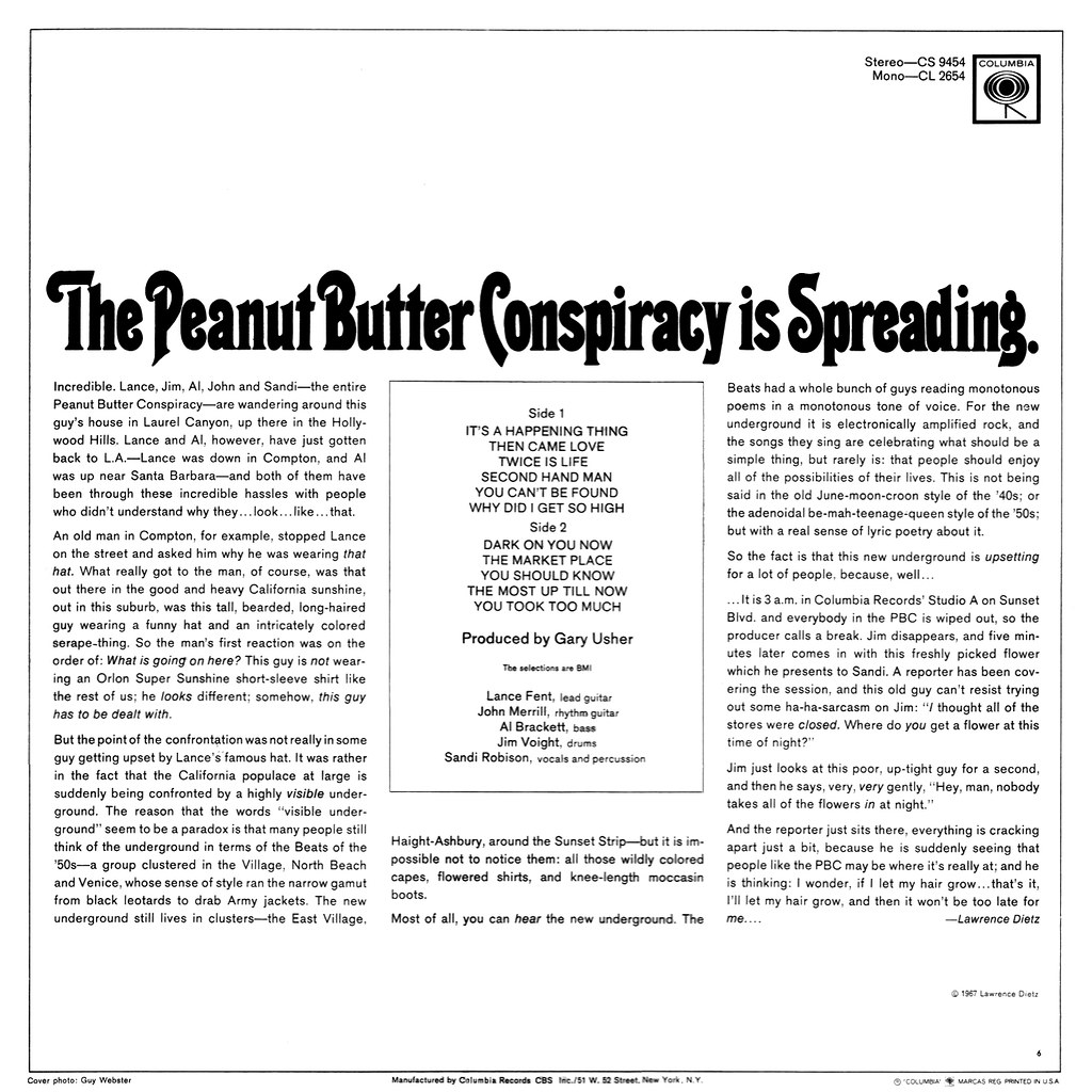 The Peanut Butter Conspiracy - The Peanut Butter Conspiracy Is Spreading
