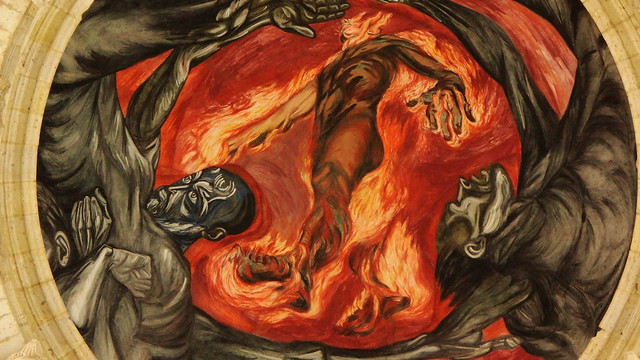 Hombre de fuego flickr photo sharing for El hombre de fuego mural de jose clemente orozco