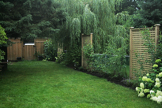 Landscaping Ideas To Hide Ugly Fence : To recap we wanted build these privacy screens in our backyard