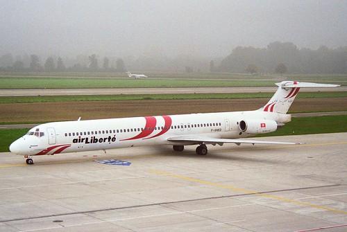 Air Liberté Tunisie MD-83; F-GHED@ZRH;07.10.1995