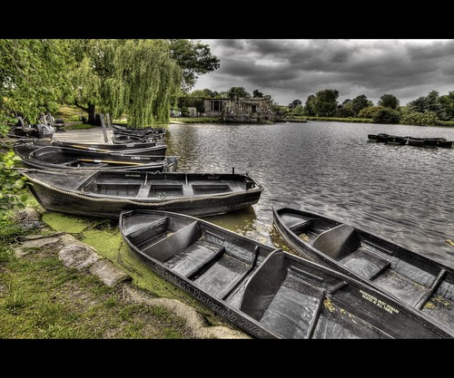 Boating Lake Before A Storm