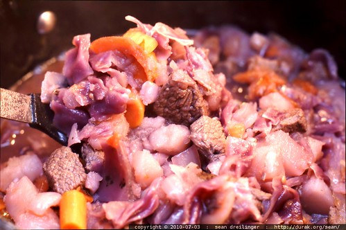 lamb stew with red cabbage