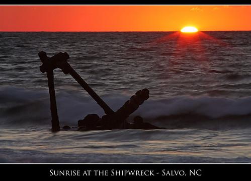 ocean beach silhouette sunrise nc northcarolina richmond shipwreck outerbanks pocahontas obx graveyardoftheatlantic