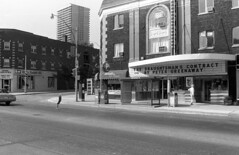 Historic photo from Saturday, September 3, 1983 - Capitol Theatre - with sign for the movie The Draughtsmans Contract in North Toronto