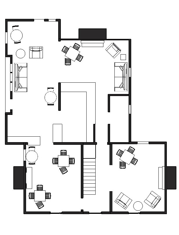 Coffee shop floor plan layout for Coffee shop floor plan with dimensions