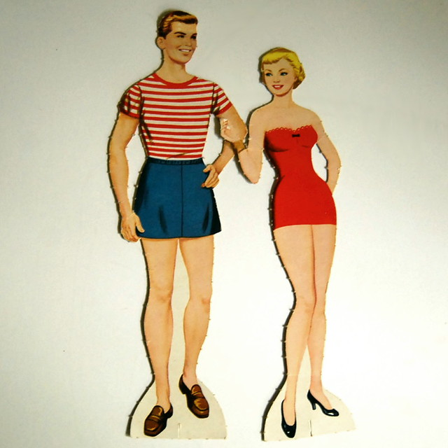 Paper doll couple