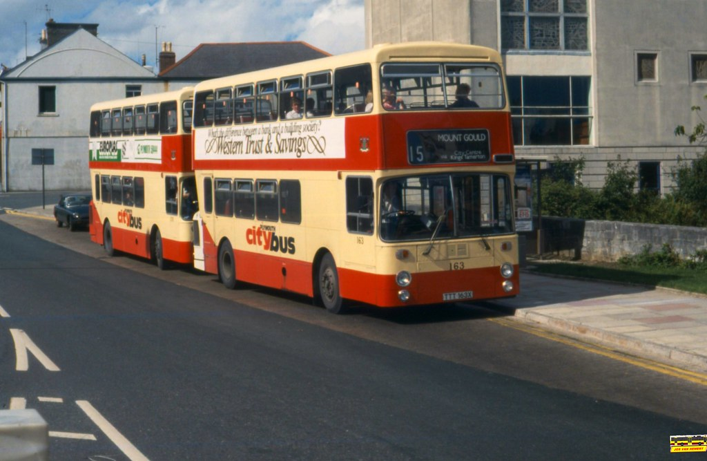 PCB Leyland Atlantean AN 163 - Ply., Victoria Rd - 1985