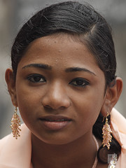 Portrait of Muslim Indian teenage girl, Cochin, Kerala, India