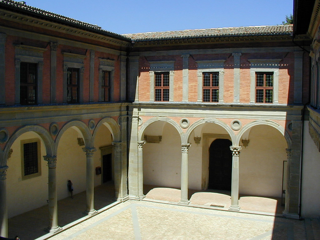 Gubbio - The Renaissance courtyard of the Palazzo Ducale