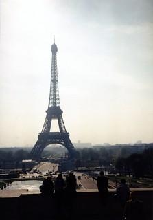 La tour Eiffel vue du Trocadéro