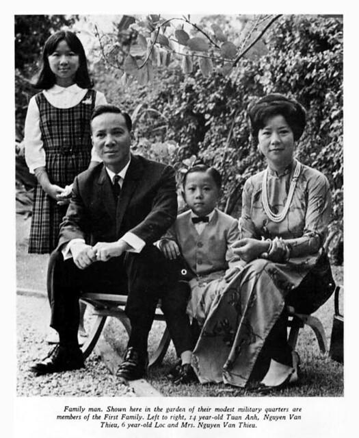 President Nguyen Van Thieu's family