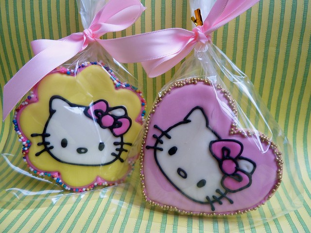 hello kitty baby shower cookie favours flickr photo sharing