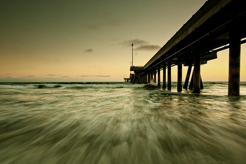 california wood venice motion beach water pier los day waves pacific angeles clear filter lee