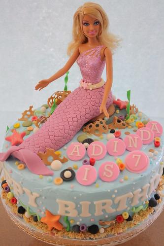 Mermaid Cake Birthday Cake For A 7 Years Old Girl She