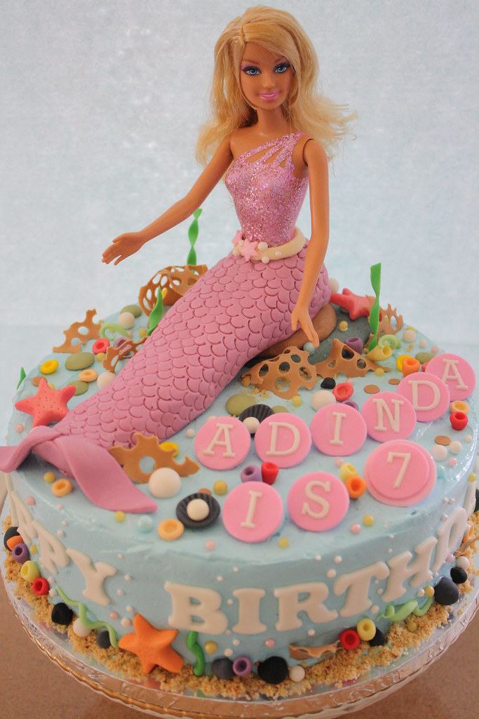 Mermaid Cake Birthday Cake For A 7 Years Old Girl She
