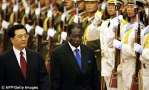 President Robert Mugabe of Zimbabwe and President Hu Jintao of the People's Republic of China during a trip to that socialist nation. Zimbabwe has developed closer ties with the PRC over the decades. by Pan-African News Wire File Photos