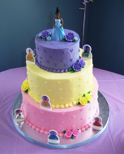 Tiered Disney Princess Birthday Cake  Flickr - Photo Sharing!