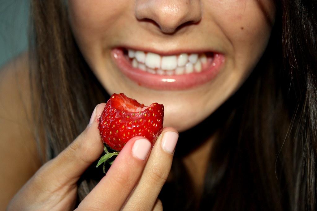Strawberry teeth