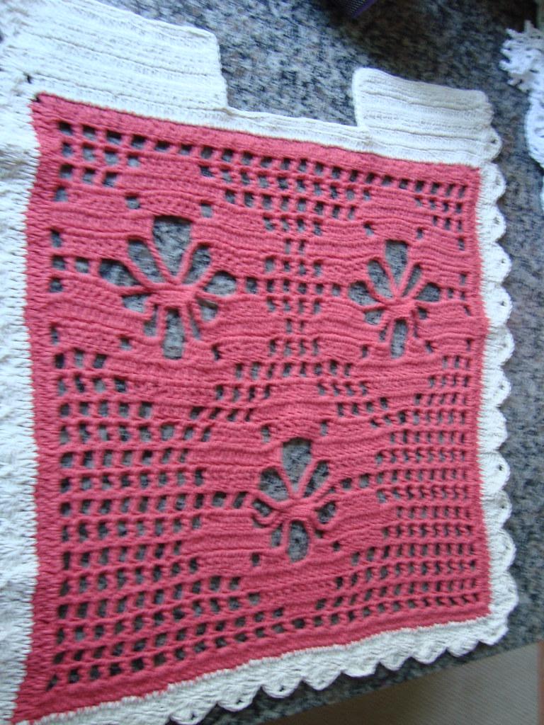 tapete para frente do vaso sanitário - de croche