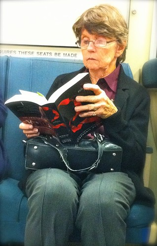 Reading TWILIGHT on BART
