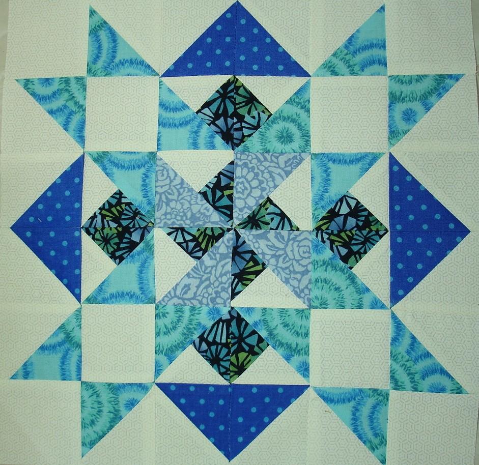 patchwork quilt along block 9
