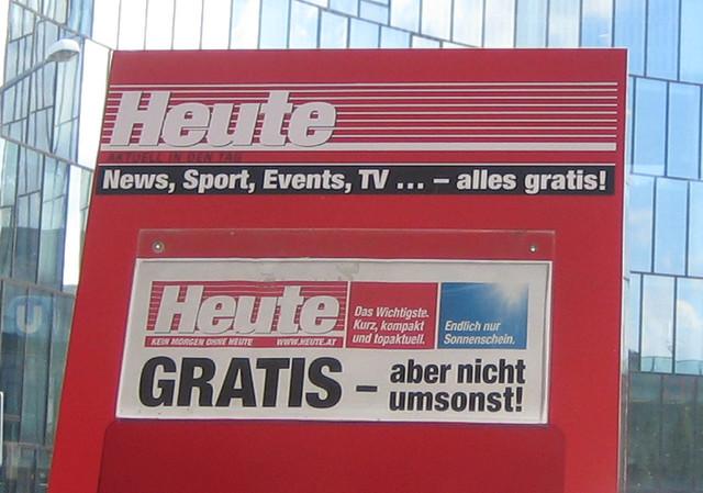 Slogan von HEUTE