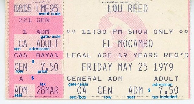 Lou Reed - May 25, 1979 - El Mocambo - Toronto