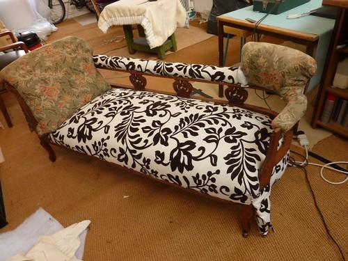 Chaise in progress