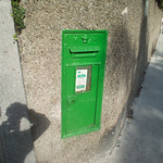 Green Postbox In Dalkey (VR - Queen Victoria)