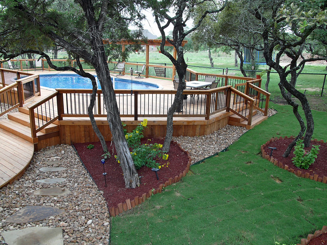 Custom deck and landscaping bexar county flickr - Images of above ground pools ...
