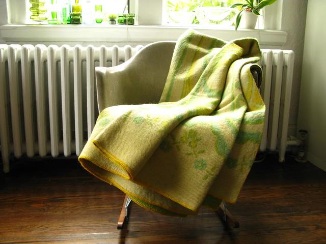 Green & Yellow wool blanket