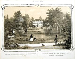 A. Wijnantz, litho van huis Angerenstein, 1845