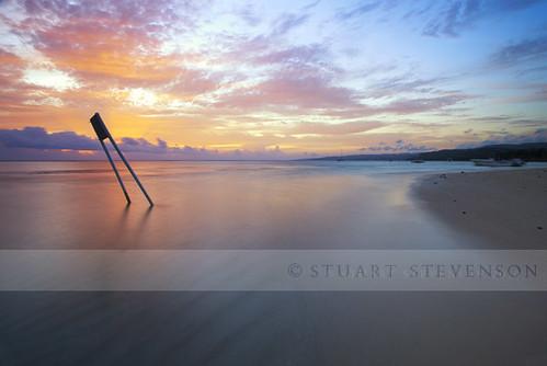 longexposure morning shadow seascape colour beach water sign clouds sunrise reflections boat early sand smooth jamaica bobmarley ochorios caribbeansea saintann mammeebay canon5dmkii ©stuartstevenson