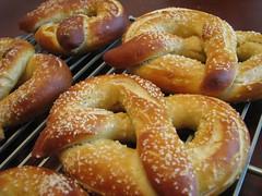 baked goods, food, cuisine, snack food, pretzel, danish pastry,