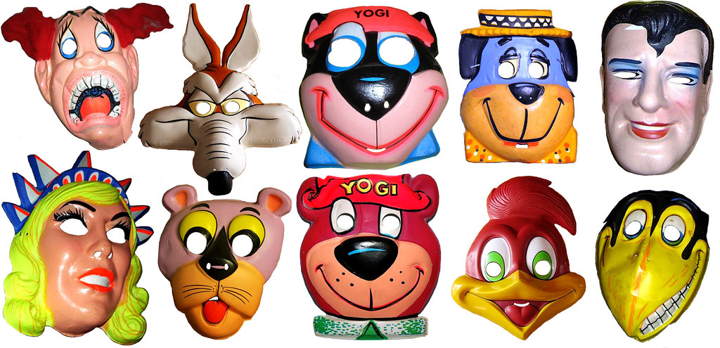 cartoon animal masks 0131