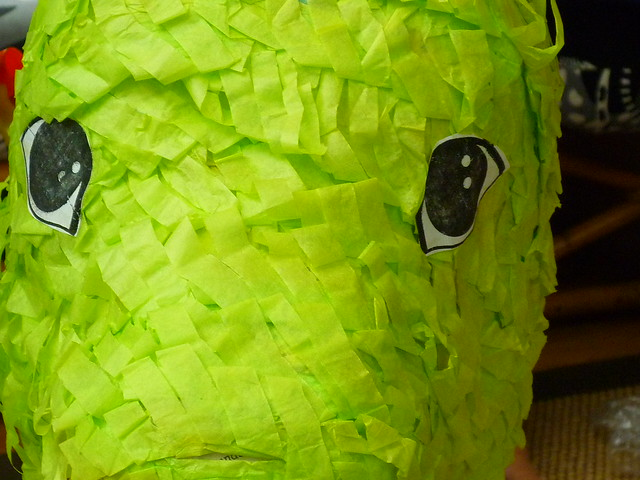the steady gaze of pinata godzilla